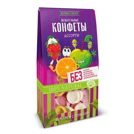 """Жевательные конфеты Живые снеки """"Ассорти"""", 3 шт по 35г."""