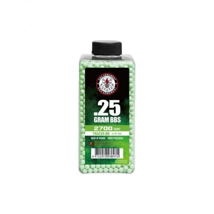 Шары-трассеры G&G 0,25 (зеленые) (2700 шт.)