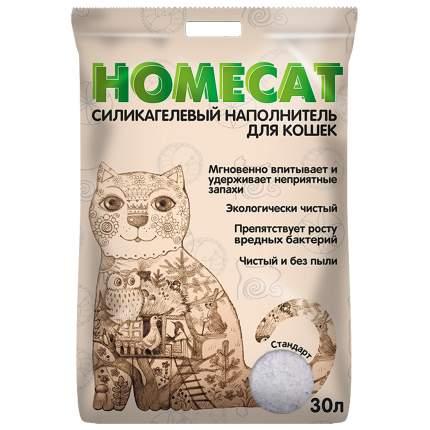 Впитывающий наполнитель для кошек HOMECAT силикагелевый, 12.09 кг, 30 л