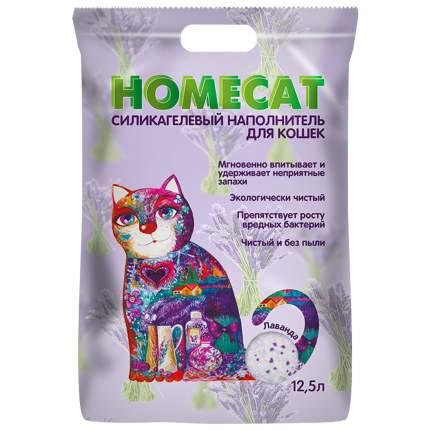 Впитывающий наполнитель для кошек HOMECAT силикагелевый, лаванда, 5.9 кг, 12.5 л