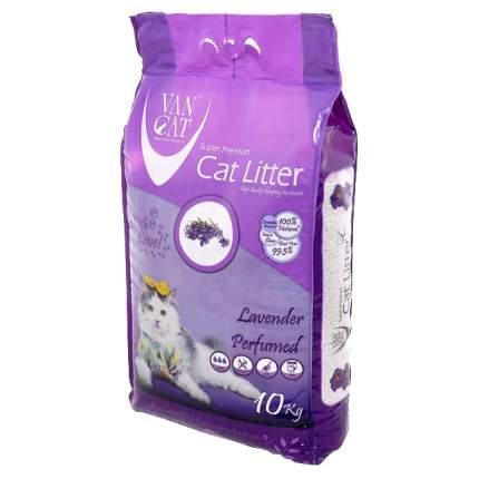 Комкующийся наполнитель для кошек Van Cat бентонитовый, лаванда, 10 кг, 12 л