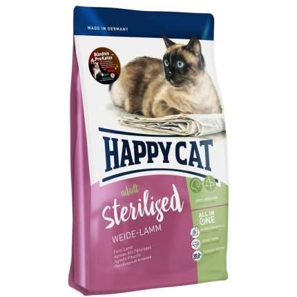Сухой корм для кошек Happy Cat Sterilised, для стерилизованных, ягненок, 4кг