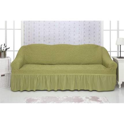"""Чехол на трехместный диван с оборкой CONCORDIA """"Triple sofa"""", цвет: фисташковый"""