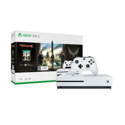Игровая приставка Microsoft Xbox One S 1Tb White +Tom Clancys The Division 2 (234-00882)