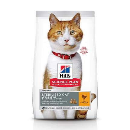 Сухой корм для кошек Hill's Science Plan Sterilised Young Adult, курица, 10кг