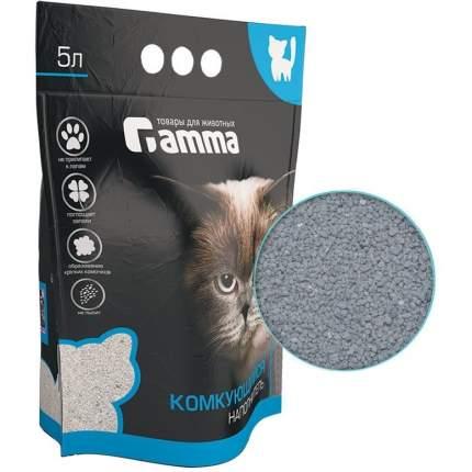 Комкующийся наполнитель для кошек Gamma глиняный, 2.2 кг, 5 л