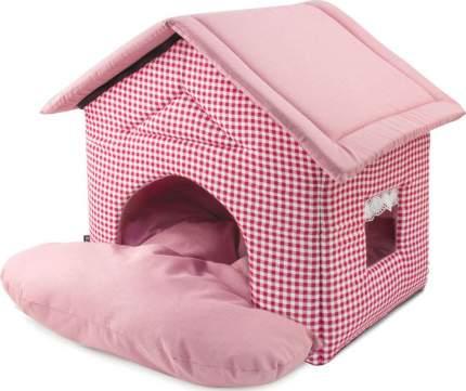 Домик для кошек и собак Gamma Садовый, розовый, 50x46x45см