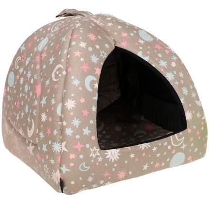 Домик для кошек и собак Gamma Юрта Небо, бежевый, 40x40x36см