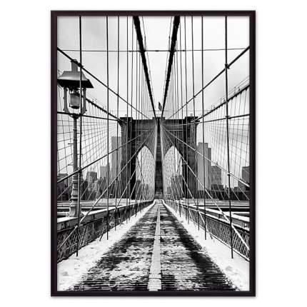Постер в рамке Бруклинский мост 1 21х30 см