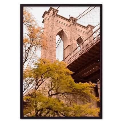 Постер в рамке Бруклинский мост 2 30х40 см