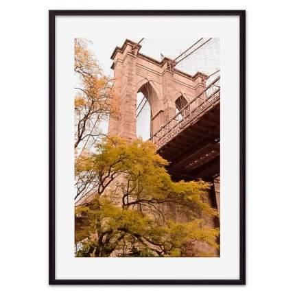 Постер в рамке Бруклинский мост 2 50х70 см