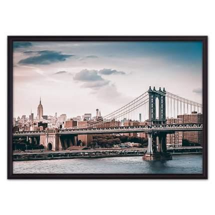 Постер в рамке Мост Манхэттена 30х40 см
