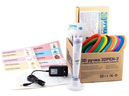 3D ручка 3DPEN-2 PLA 10 цветов с трафаретами, цв. фиолетовый