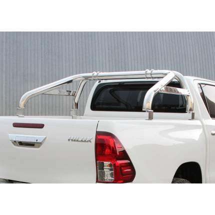 Дуги кузова d76 Rival для Toyota Hilux VIII 2015-н.в., нерж. сталь, 2 части, R.5716.010