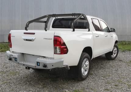 Дуги кузова d76 Rival Toyota Hilux VIII , нерж. сталь, 2 части, черные, R.5716.010.PB