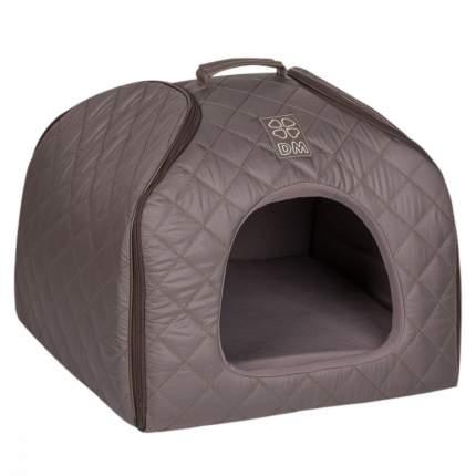 Домик для кошек и собак Dogmoda Colour Элит, серый, 48x49x40см