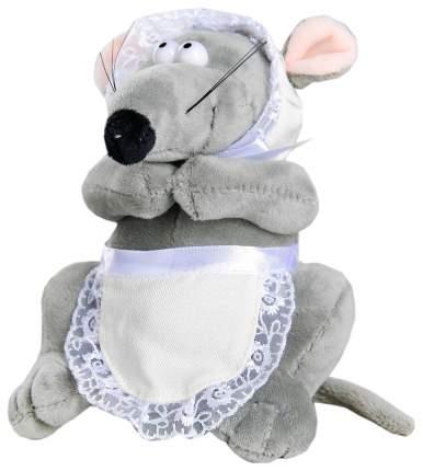 """Мягкая игрушка """"Мышка в фартуке"""" 15 см Sima-Land"""