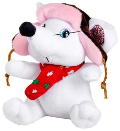 """Мягкая игрушка """"Белая мышка"""" в ушанке, 15 см Sima-Land"""