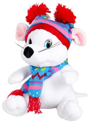 """Мягкая игрушка """"Белая мышка"""" в шапочке, 20 см Sima-Land"""