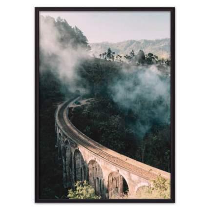 Постер в рамке Мост над каньоном 21х30 см