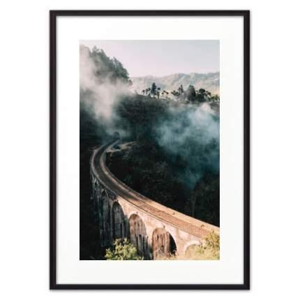 Постер в рамке Мост над каньоном 50х70 см