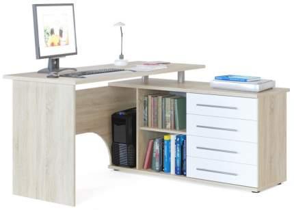 Компьютерный стол СОКОЛ КСТ-109П, дуб сонома/белый