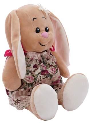 Мягкая игрушка «Зайка Милашка» в платье на завязках в цветочек, 30 см СмолТойс