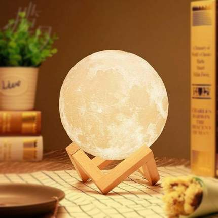 Светильник ночник 3D шар Луна Moon Lamp 12 см без пульта