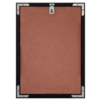 Постер в рамке Бирюзовый лист 50х70 см