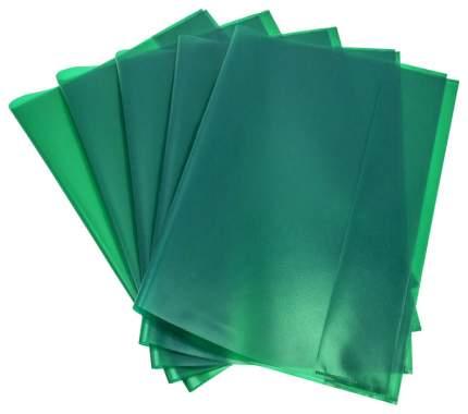 Набор обложек PANTA PLAST для тетрадей А4 Зеленые 303х436 5 штук