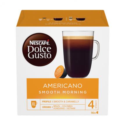 Кофе натуральный жареный молотый Nescafe Dolce Gusto американо Smooth Morning 16 капсул