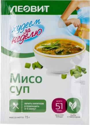 Суп мисо Леовит худеем за неделю 15 г