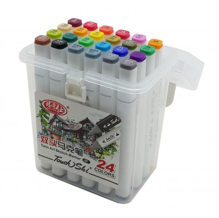 Набор маркеров двусторонних Touch Liit Shi, 24 цвета