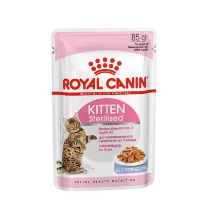 Влажный корм для кошек ROYAL CANIN Feline Health Nutrition Kitten Sterilised, мясо, 85г