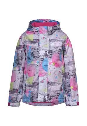 Ветровка для девочек OLDOS OSS202TJK30 цв. светло-серый, розовый р.122