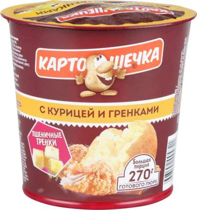 Пюре картофельное быстрого приготовления Картошечка с курицей и гренками 40 г