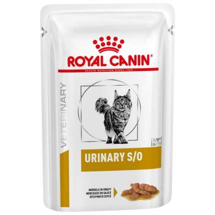 Влажный корм для кошек ROYAL CANIN Vet Diet Urinary S/O, в соусе, цыпленок, 85г