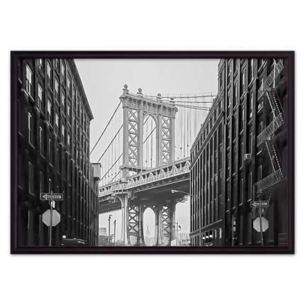Постер в рамке Манхэттенский мост 21х30 см