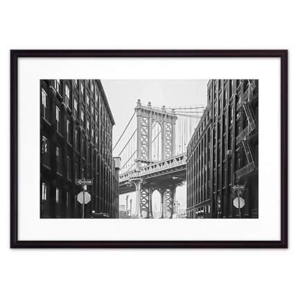 Постер в рамке Манхэттенский мост 50х70 см
