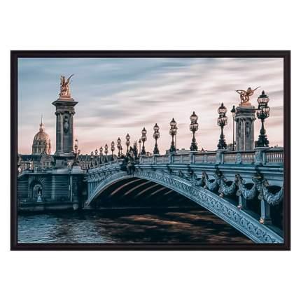 Постер в рамке Мост Александра III 50х70 см
