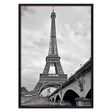 Постер в рамке Мост и Эйфелева башня 30х40 см