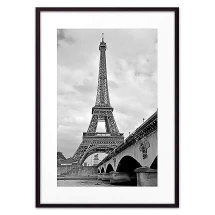Постер в рамке Мост и Эйфелева башня 40х60 см