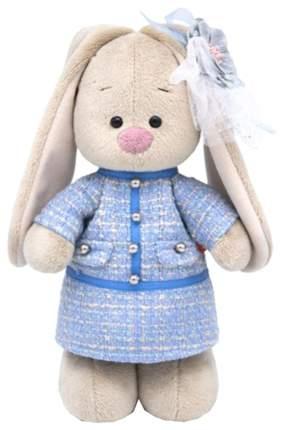 Мягкая игрушка BUDI BASA Зайка Ми в голубом платье в клетку, 25 см