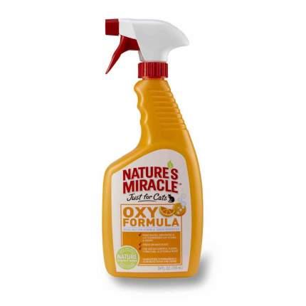 Спрей-уничтожитель пятен и запахов кошачьих меток и мочи Nature's Miracle Orange Oxy 709мл