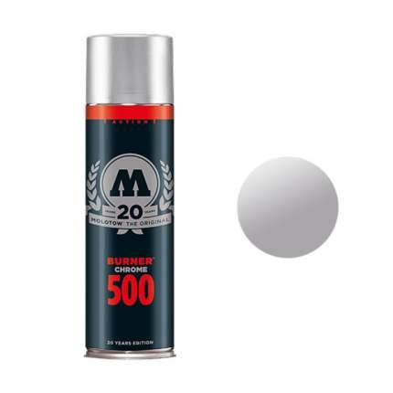 Краска аэрозольная Molotow Burner Chrom 500 мл для граффити серый