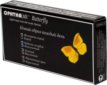 Контактные линзы Офтальмикс Butterfly 1-тоновые 2 линзы R 8,6 0,00 Голубые