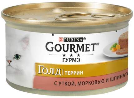 Консервы для кошек Gourmet Gold Террин, с уткой, морковью и шпинатом по-французски, 85г