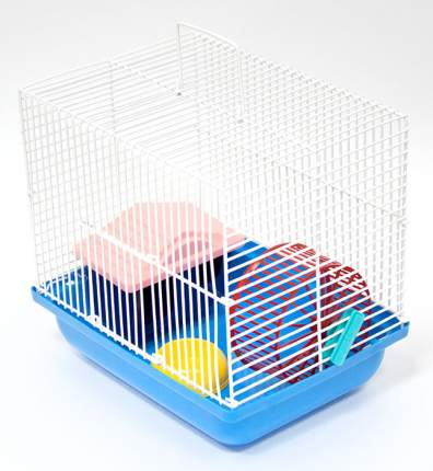 Клетка для джунгарских хомяков, мышей Зооник комплект, в ассортименте, 22,5х16,5х21 см