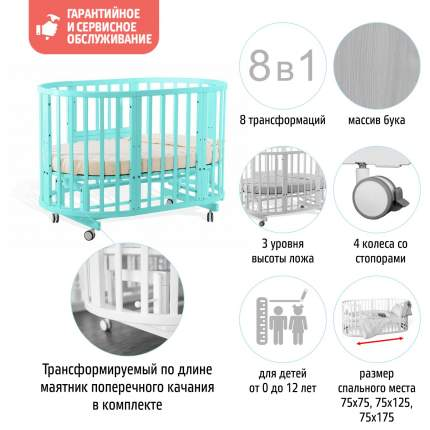 Детская кровать-трансформер Nido Magia Nuovita, Tiffany/Тиффани