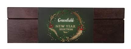 Подарочный набор Greenfield в деревянной шкатулке 4 вида 32 пакетика